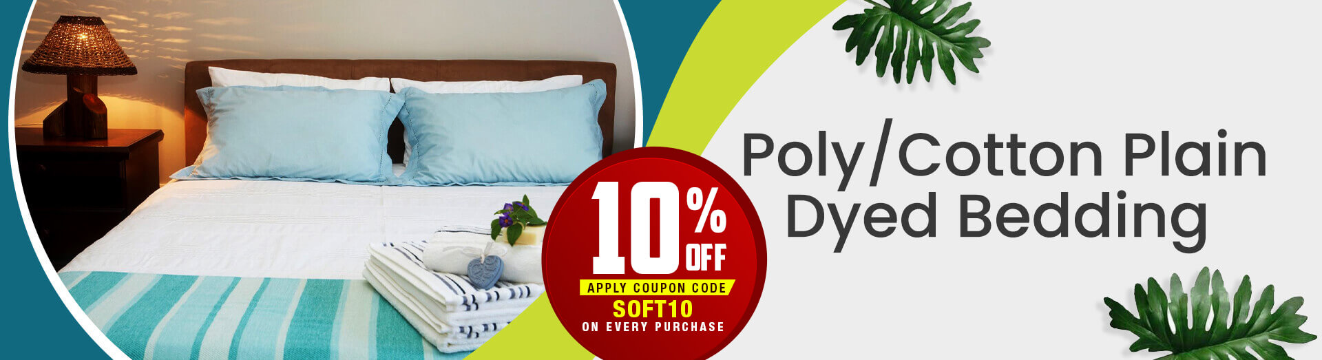 Poly/Cotton Plain Dyed Bedding