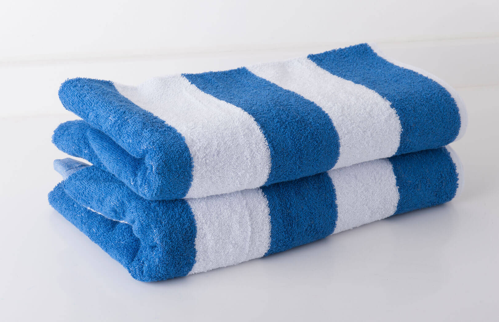 CHORINE RESISTANT BLUE STRIPE POOL TOWELS
